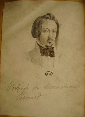 Portrait d'un homme des années 1830-1840, aux épaules, avec une cravate